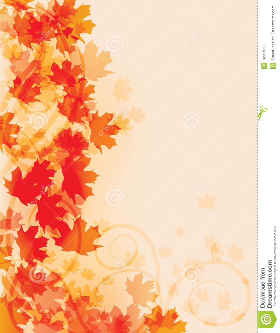 Fall Flyer Background