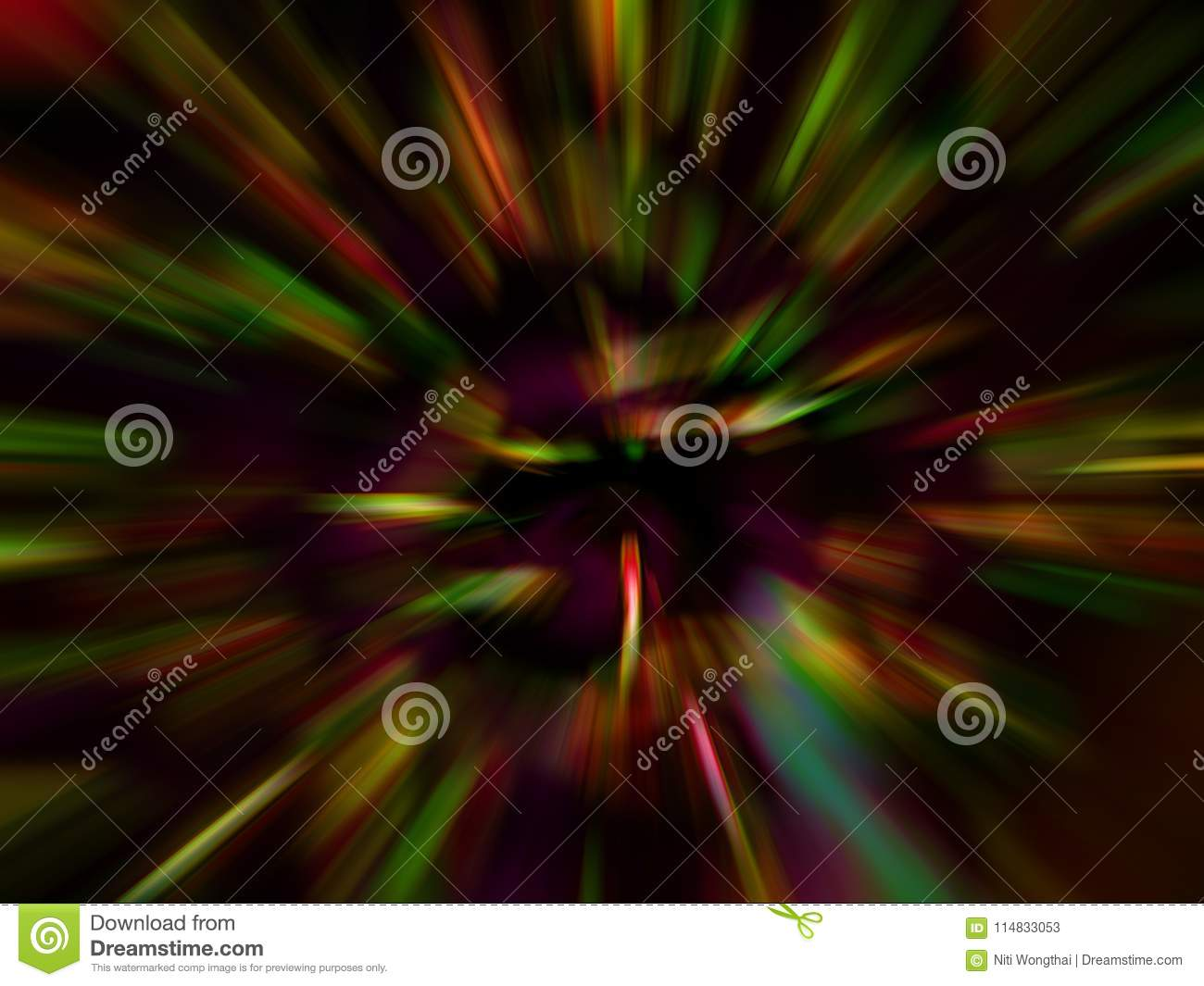 Abstract Fancy Colored Beam And Zoom Blur. Background ...
