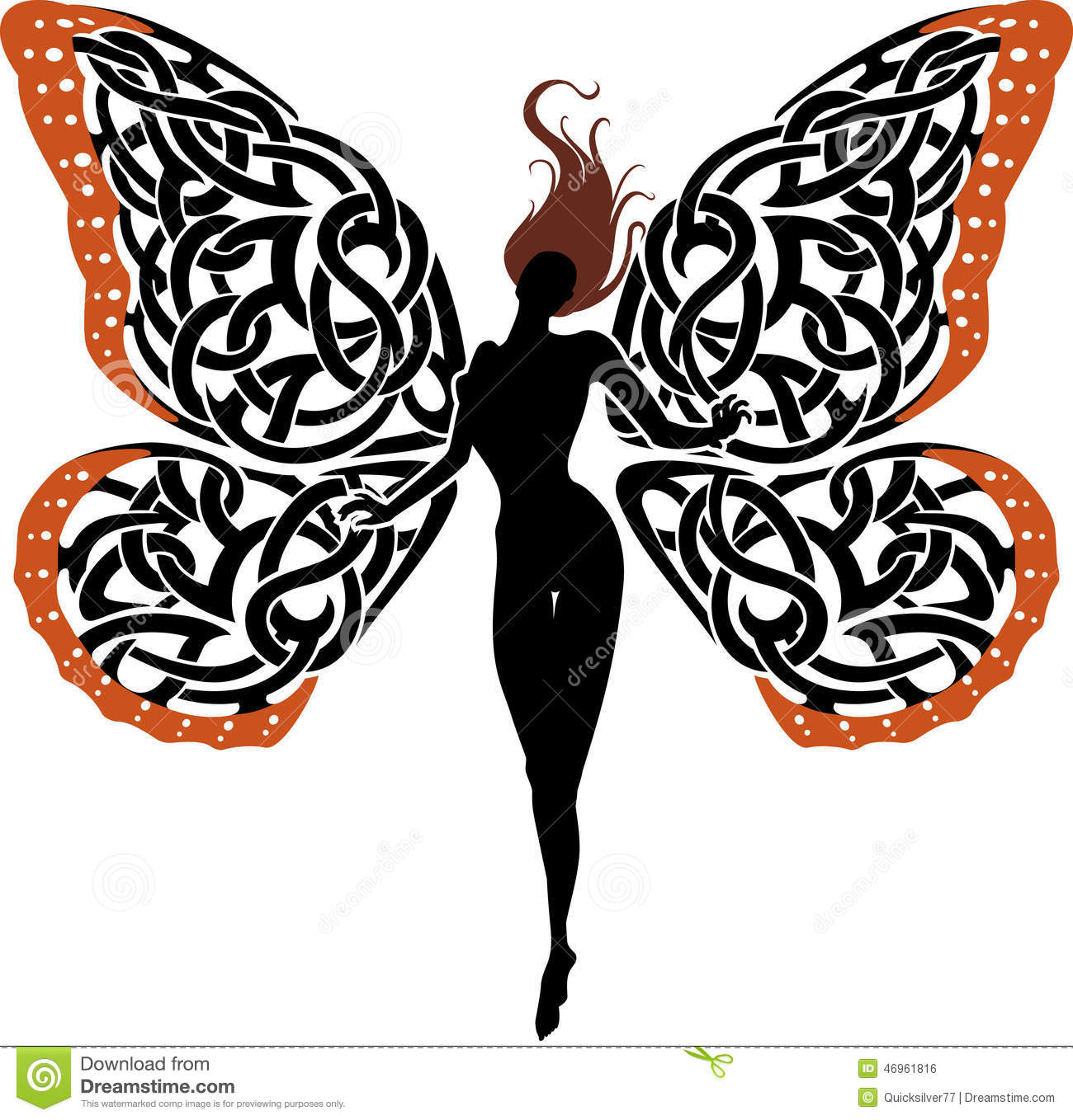 Abstract Fantasy Lady Butterfly Stock Illustration - Image: 46961816 Eagle Silhouette Vector