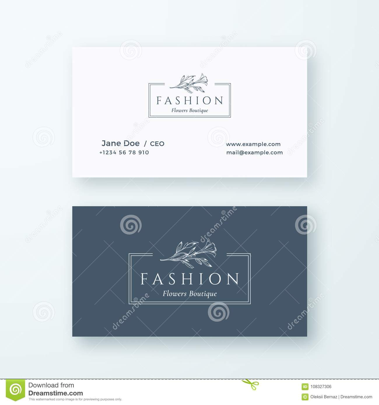 Abstract Fashion Vector Sign Or Logo And Business Card Template Premium Stationary Realistic Mock Up Modern Typography Stock Vector Illustration Of Classy Elegant 108327306