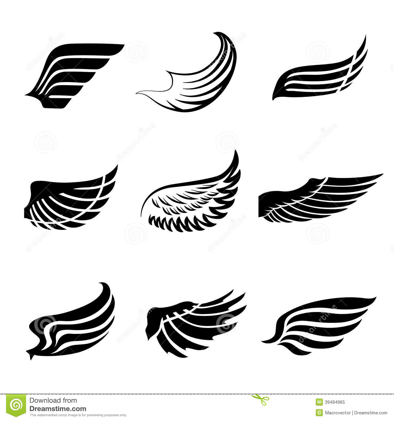 Vector black f   Eagle Wings Logo Png