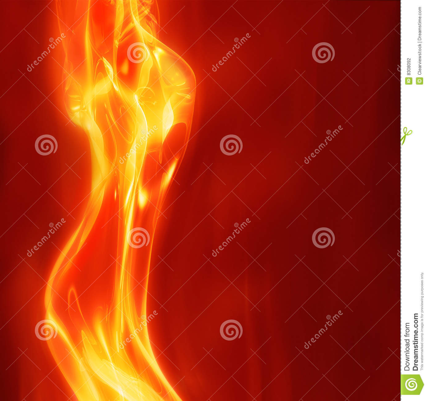 Download Abstract female fire stock vector. Illustration of fire - 8308092