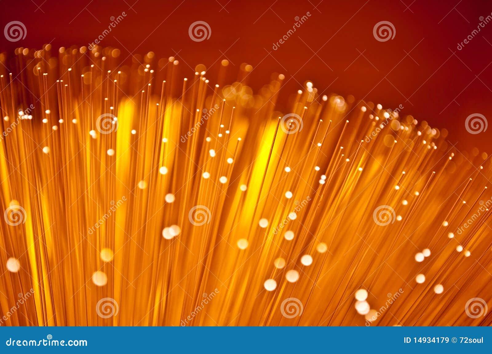 Abstract fibre optic glow.