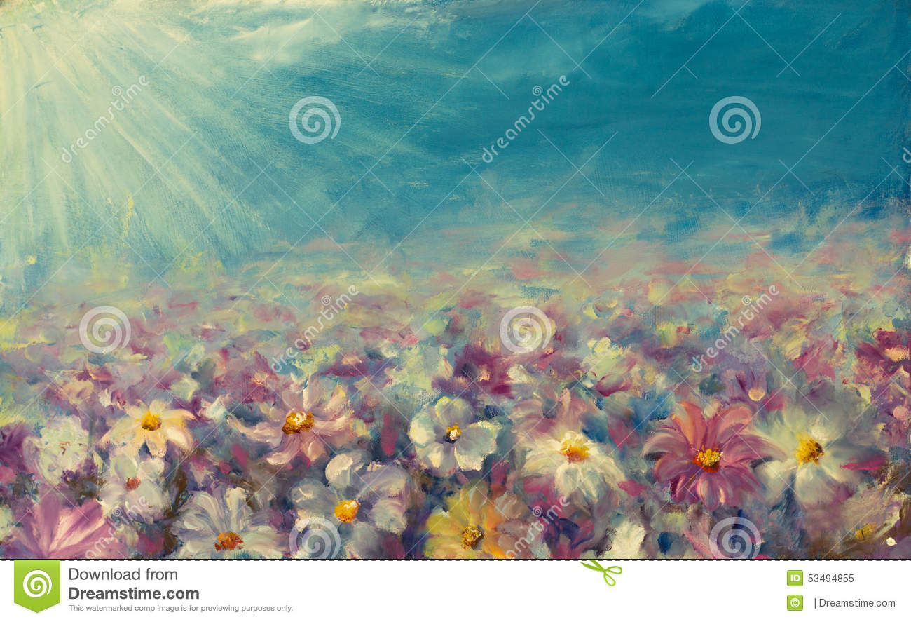 Abstract field flowers painting beautiful flowers on field abstract field flowers painting beautiful flowers on field izmirmasajfo
