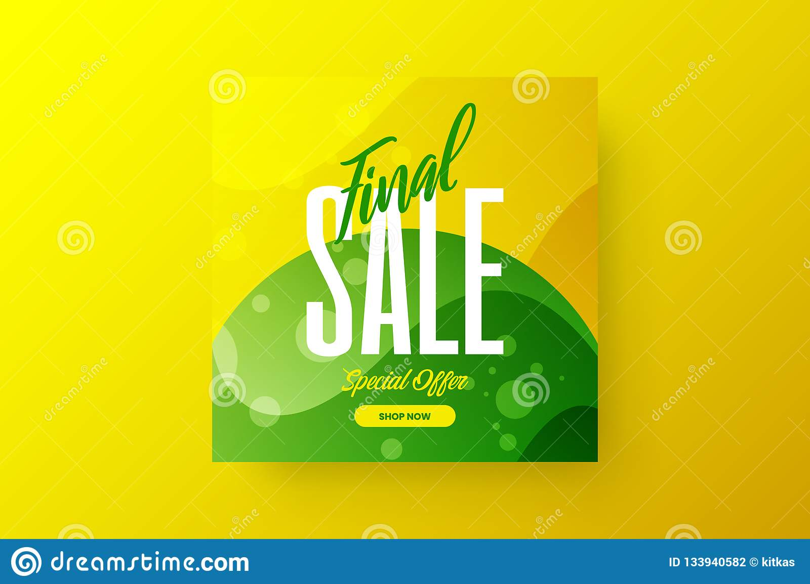Abstract final sale vector design banner template. Marketing special offer discount social media promotion illustration layout.