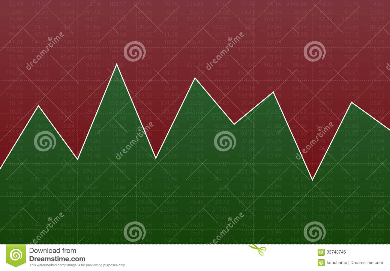 Abstract Finance Chart With Line Graph And Stock Numbers In Sideways ...
