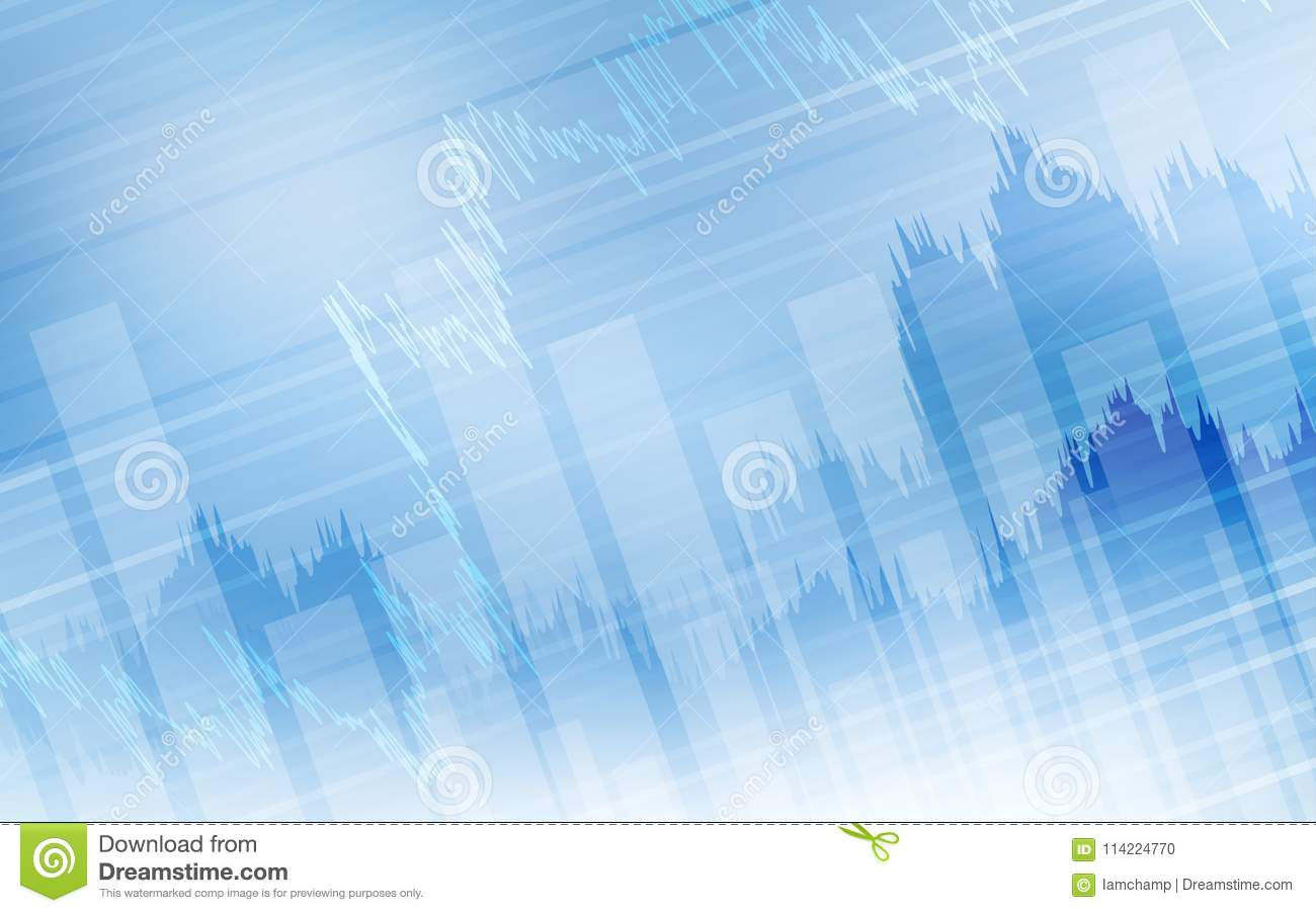 abstract financial background with line graph and bar chart in stock