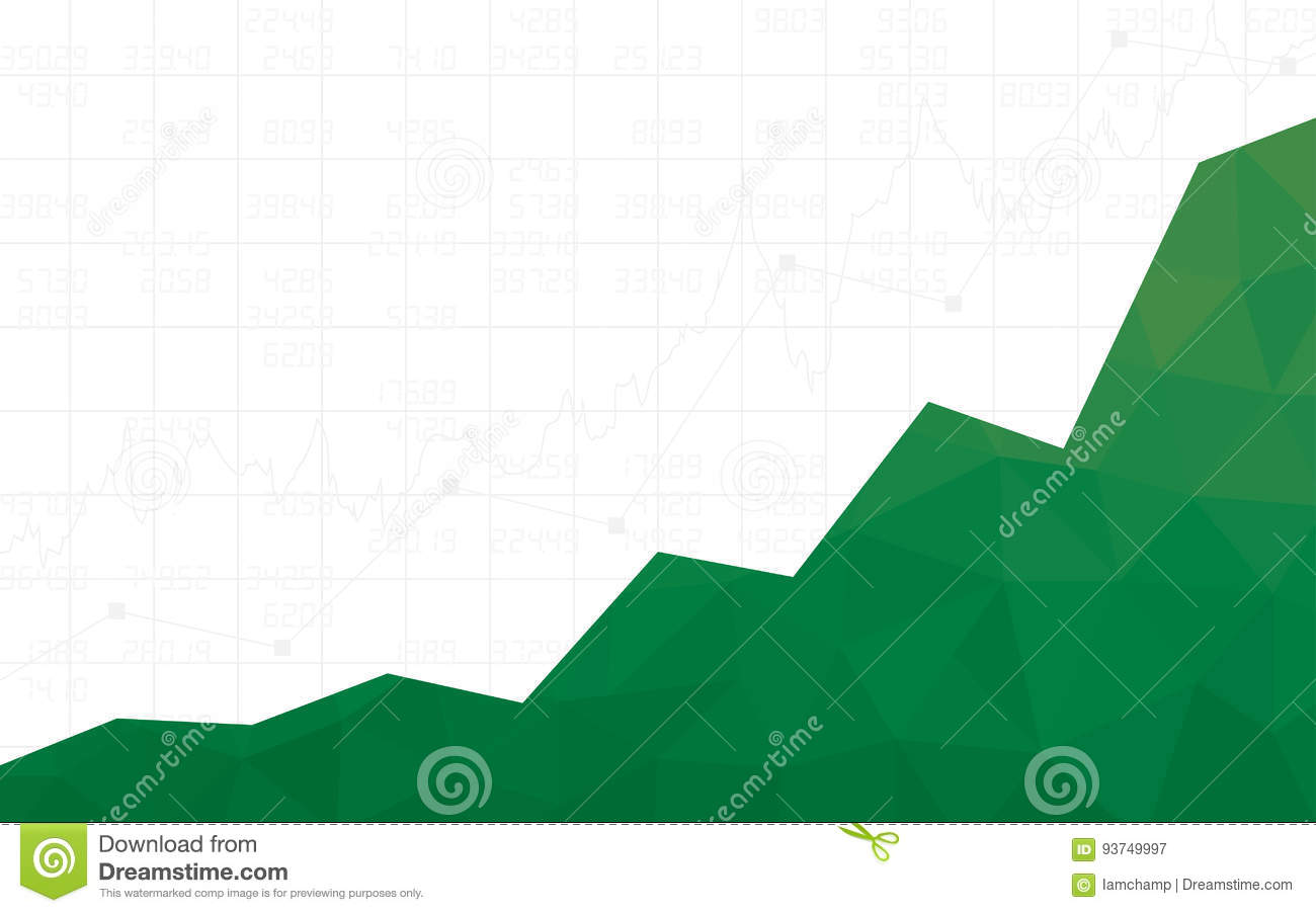 Abstract Financial Chart With Uptrend Line Graph In Polygon Design ...