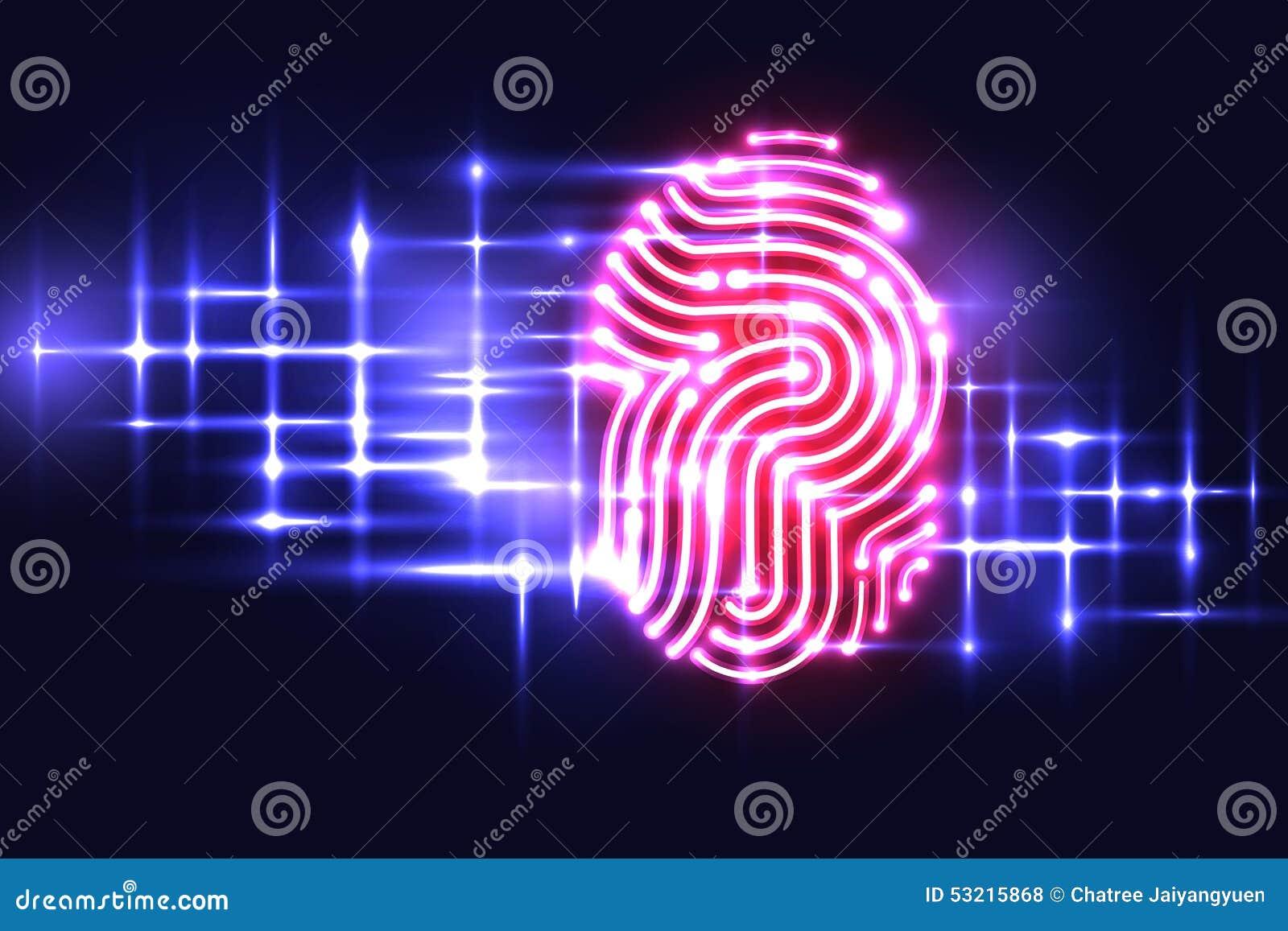 Abstract Fingerprint technology background.Letter P.