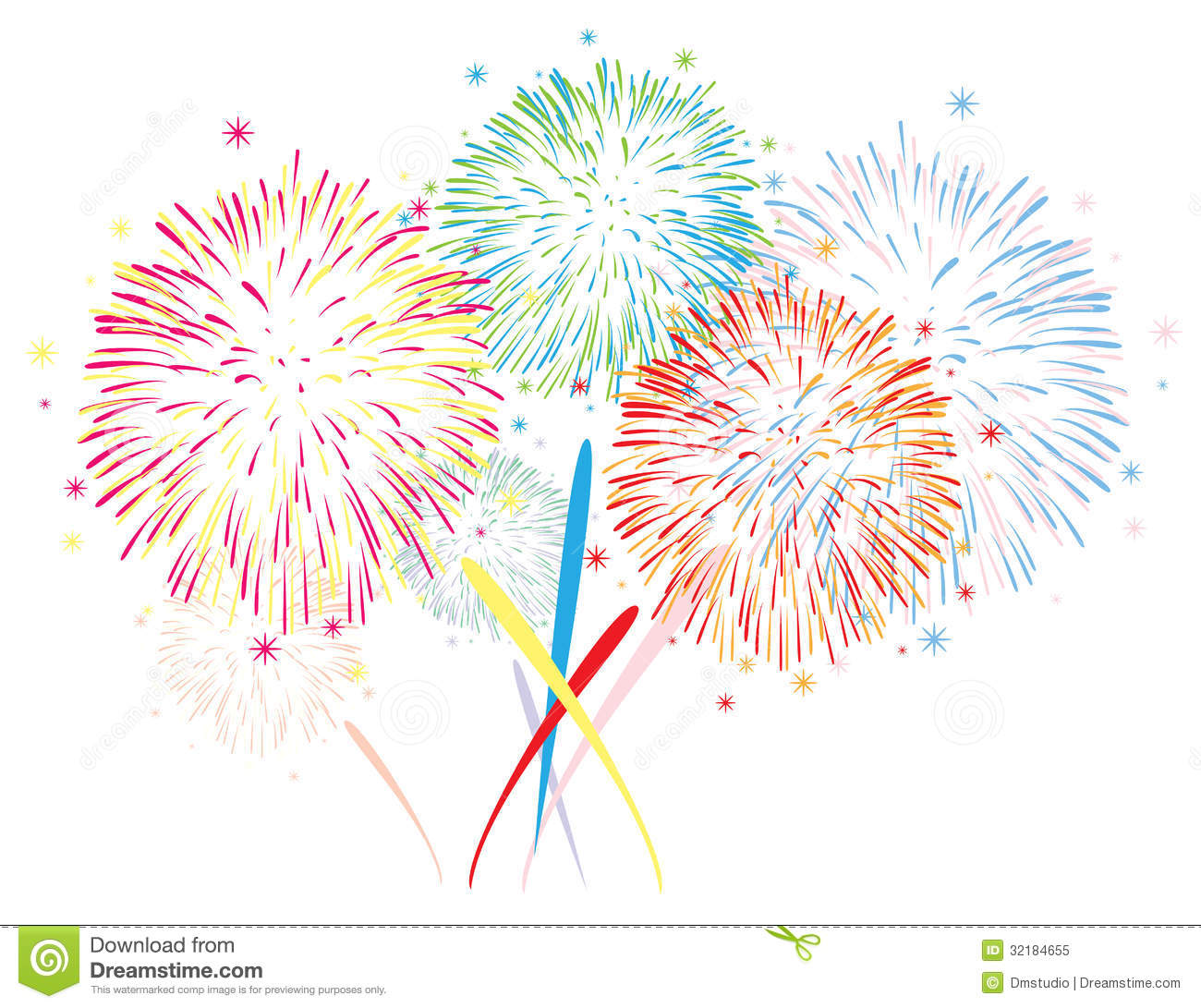 Vector Abstract Fireworks Background Royalty Free Stock Photo - Image ...