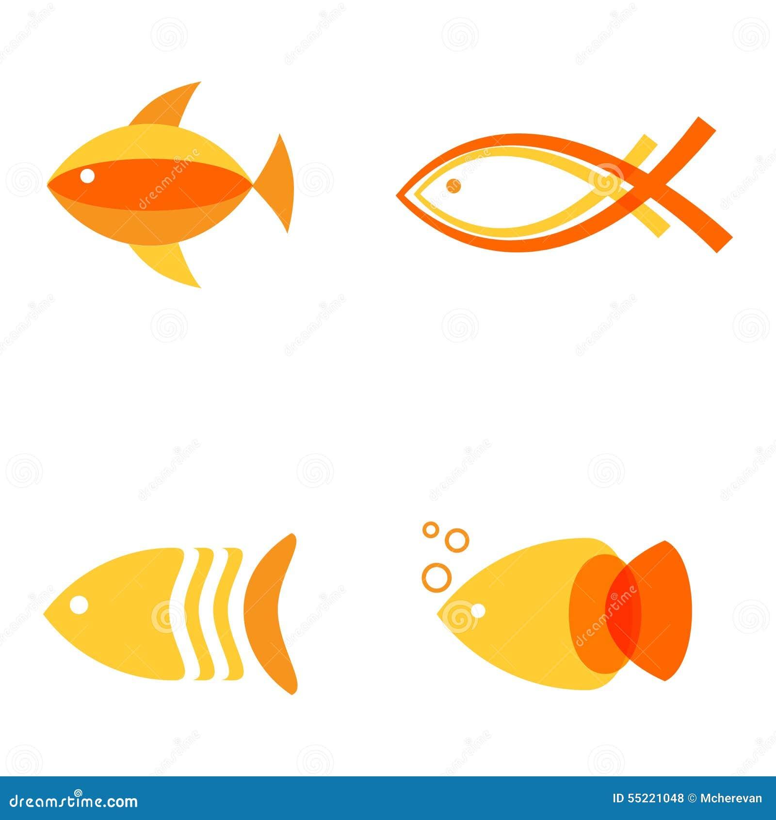 logo frozen seafood cartoon vector cartoondealer
