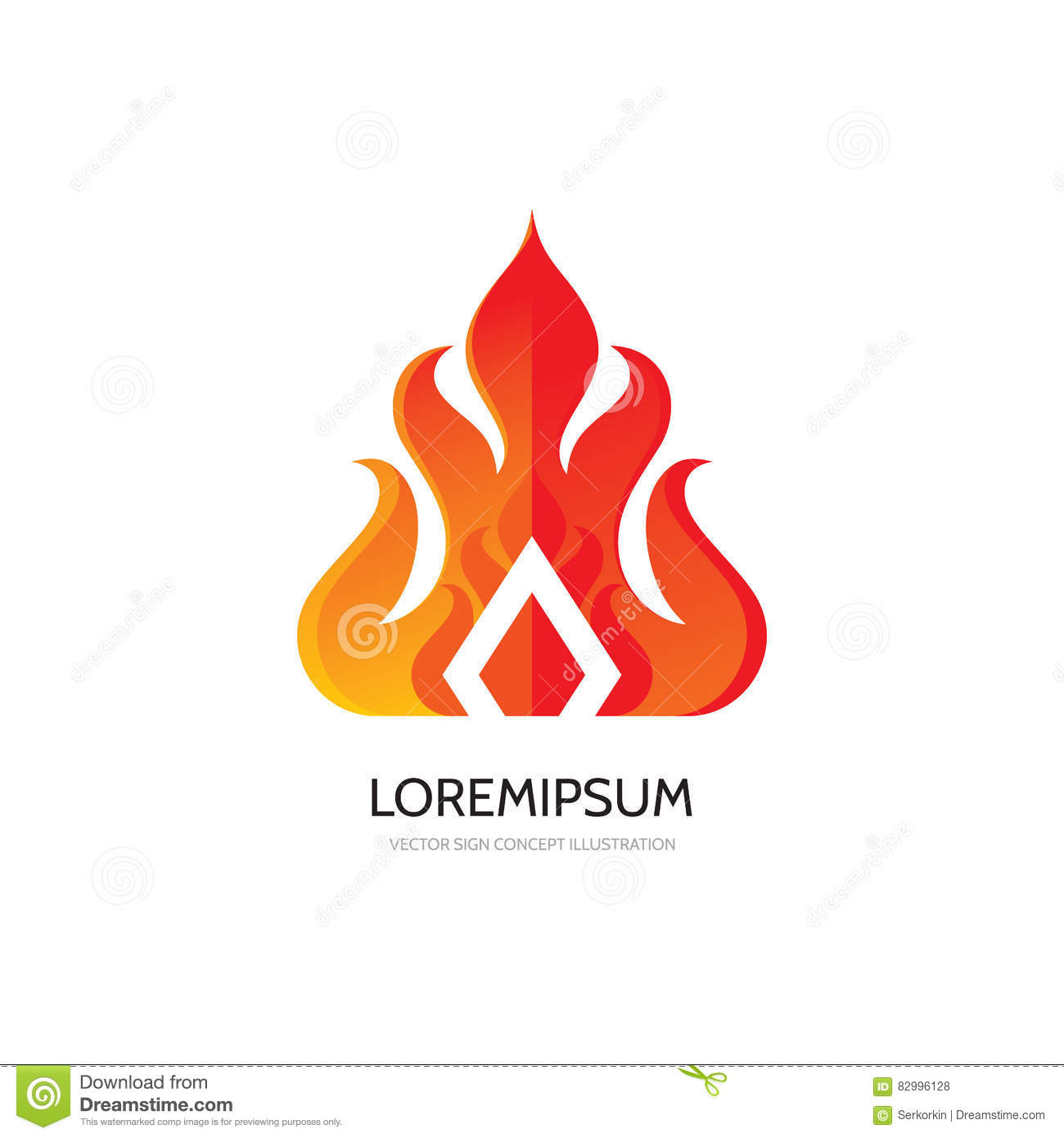 Abstract flame - vector logo template concept illustration. Fire sign. Decorative shape. Ethnic design element