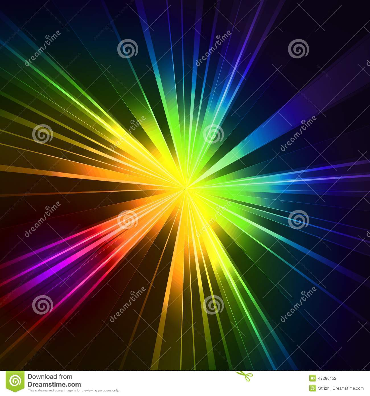 Abstract Flash Star Light. Colorful Exploding Stock Vector