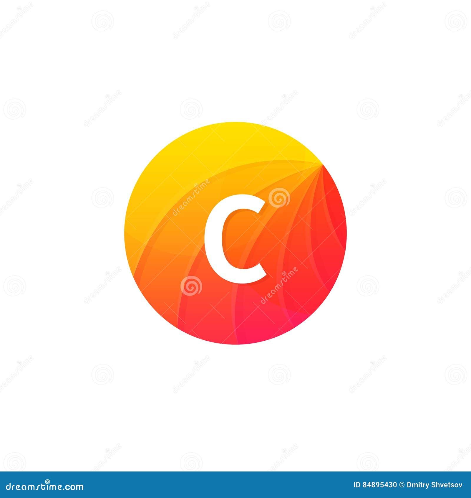 Abstract flat circle c logo letter symbol sign company icon stock abstract flat circle c logo letter symbol sign company icon biocorpaavc Images