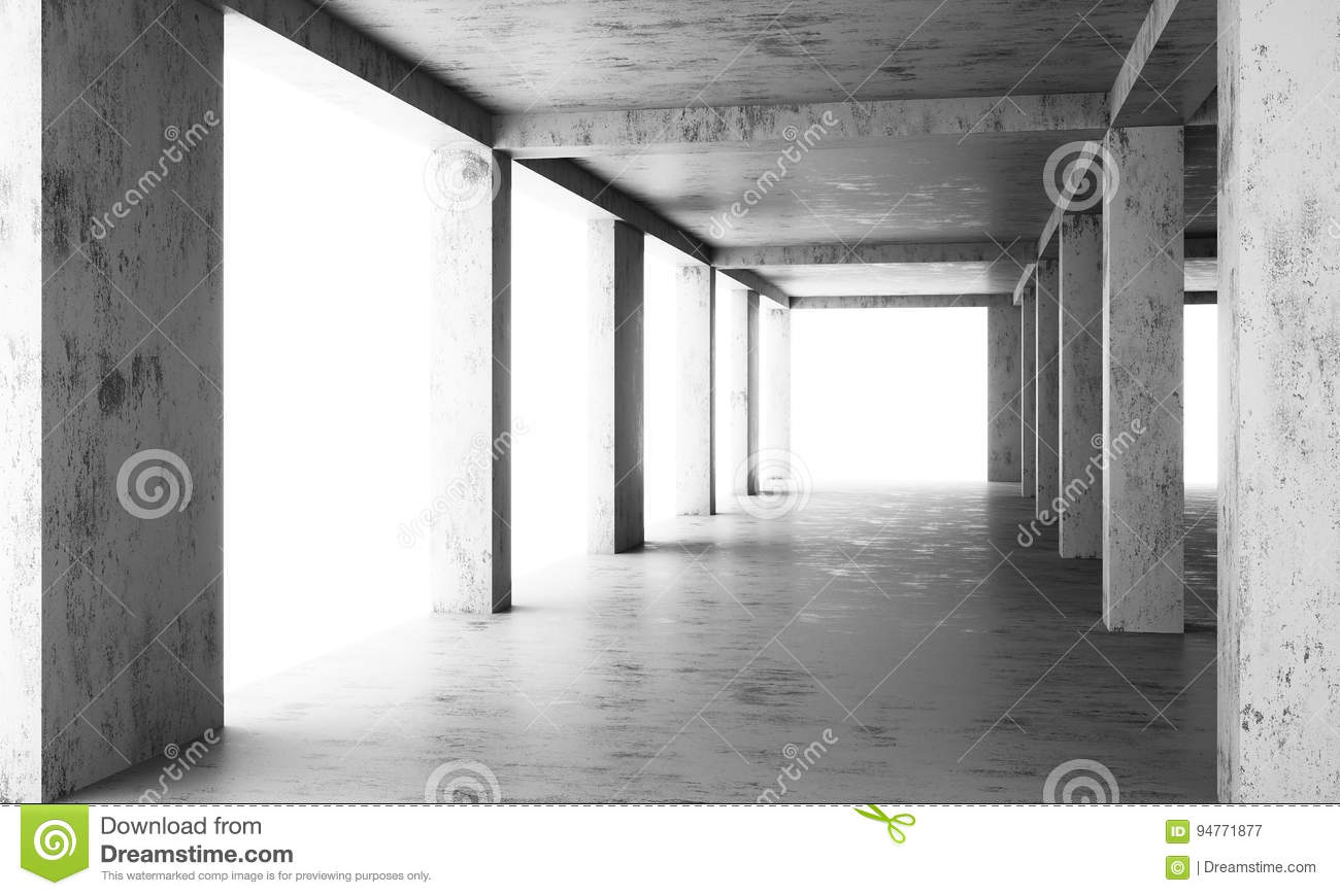 The Abstract Floor Of A Modern Building Under Construction Stock ...