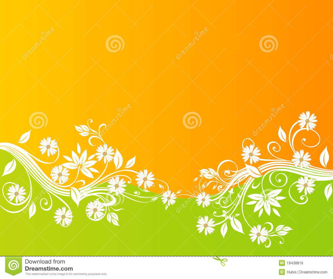 Abstract Floral Background Design Stock Photo