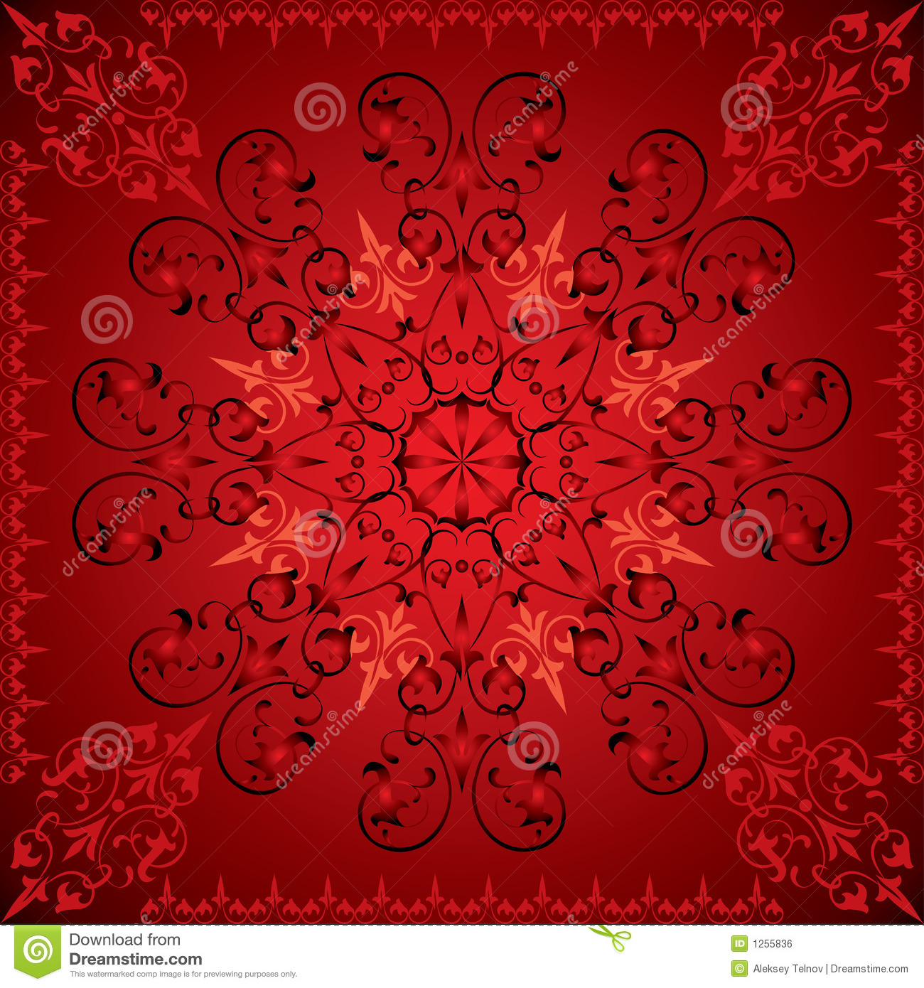 Abstract Flower Background With Decoration Elements For: Abstract Floral Background, Elements For Design, Vector