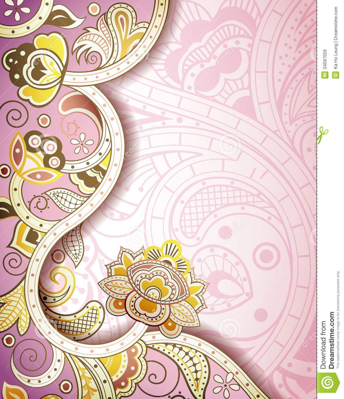 Abstract Floral Background Stock Illustration Illustration Of