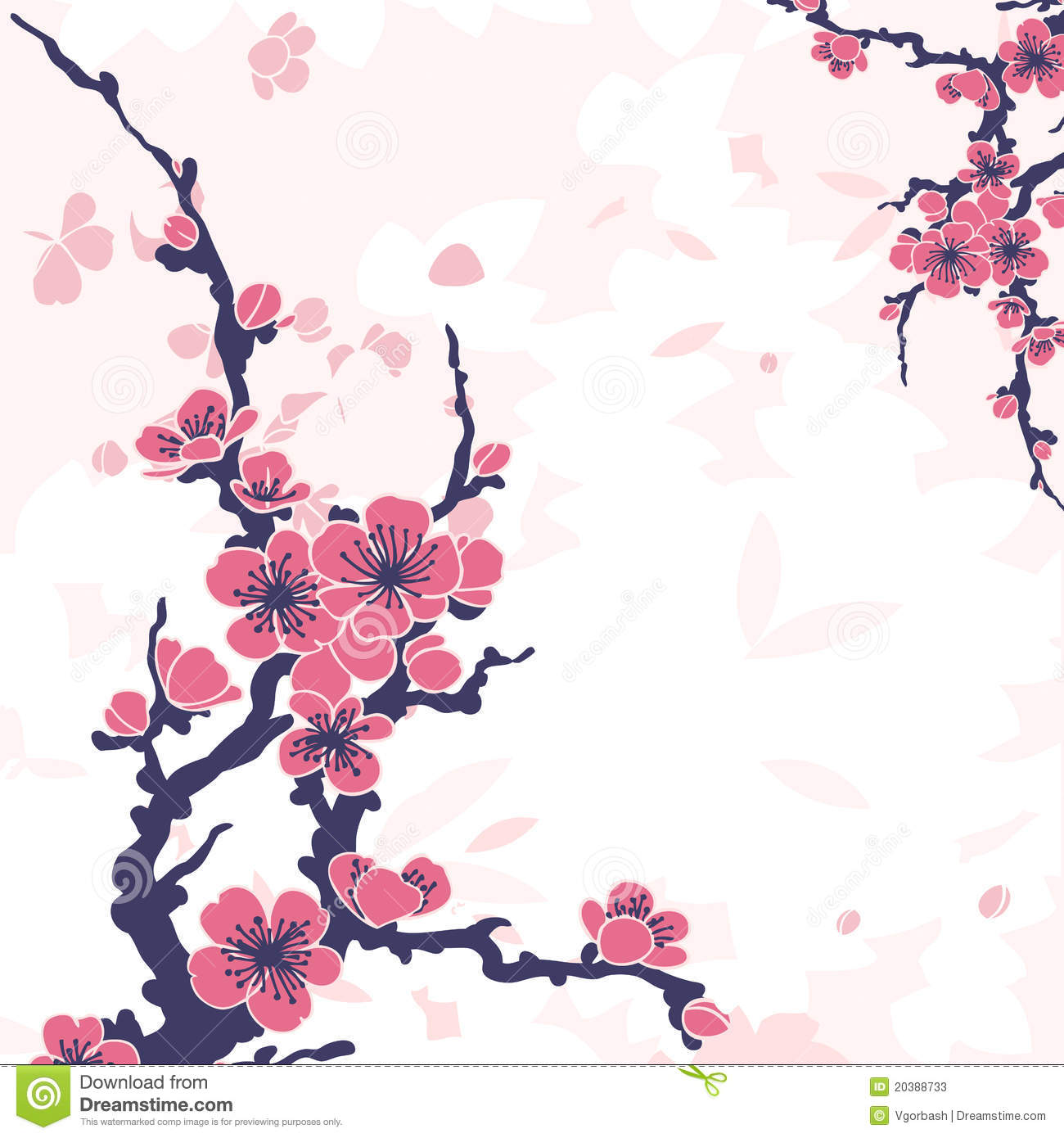 Abstract Floral Background With Sakura Stock Photos - Image: 20388733