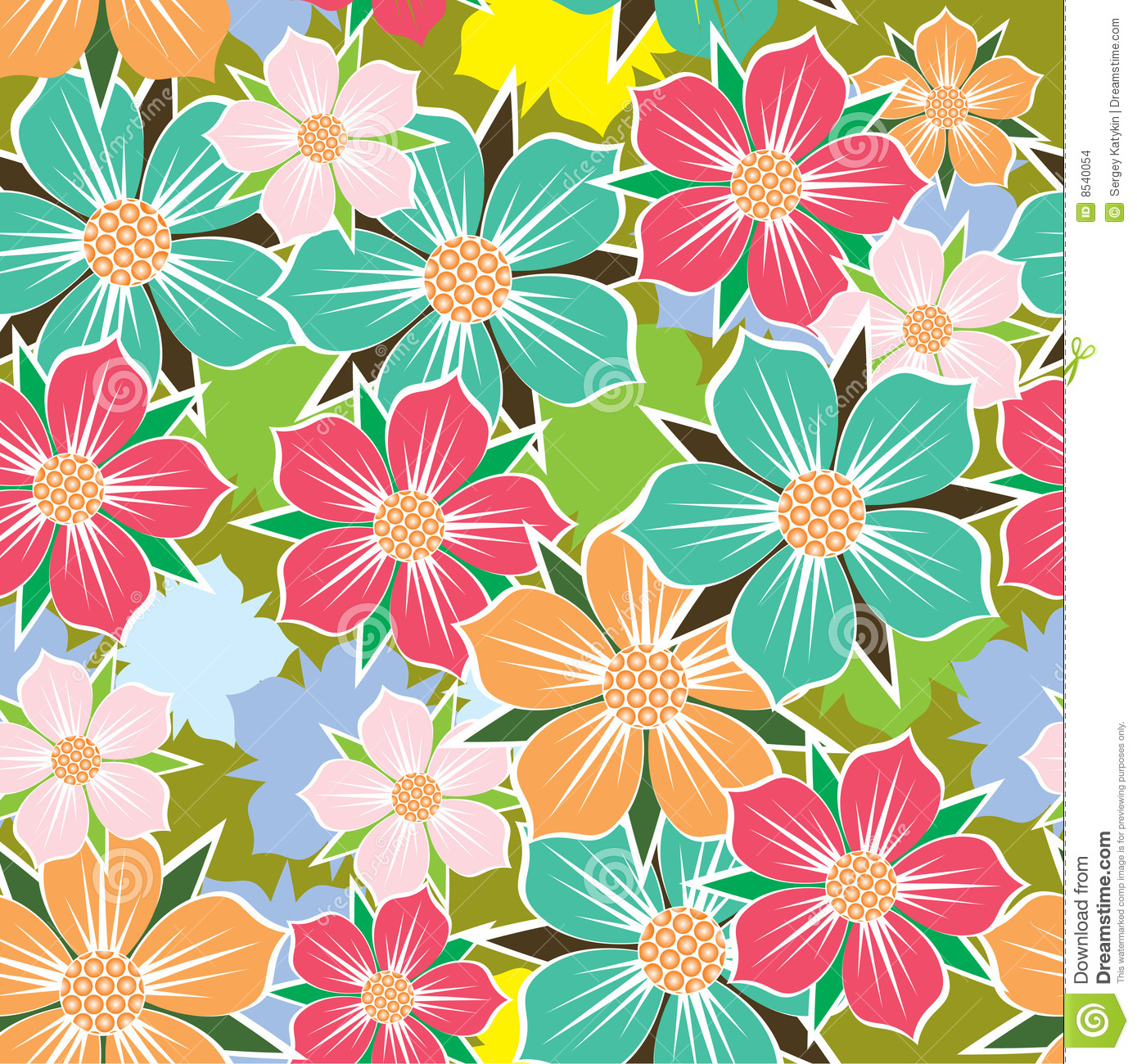 Abstract Flower Patterns Patterns Kid