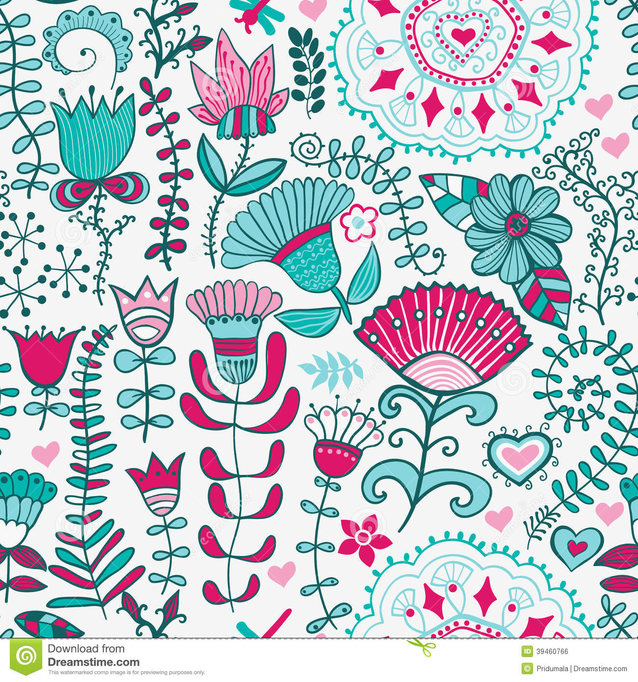 abstract floral background summer theme seamless pattern
