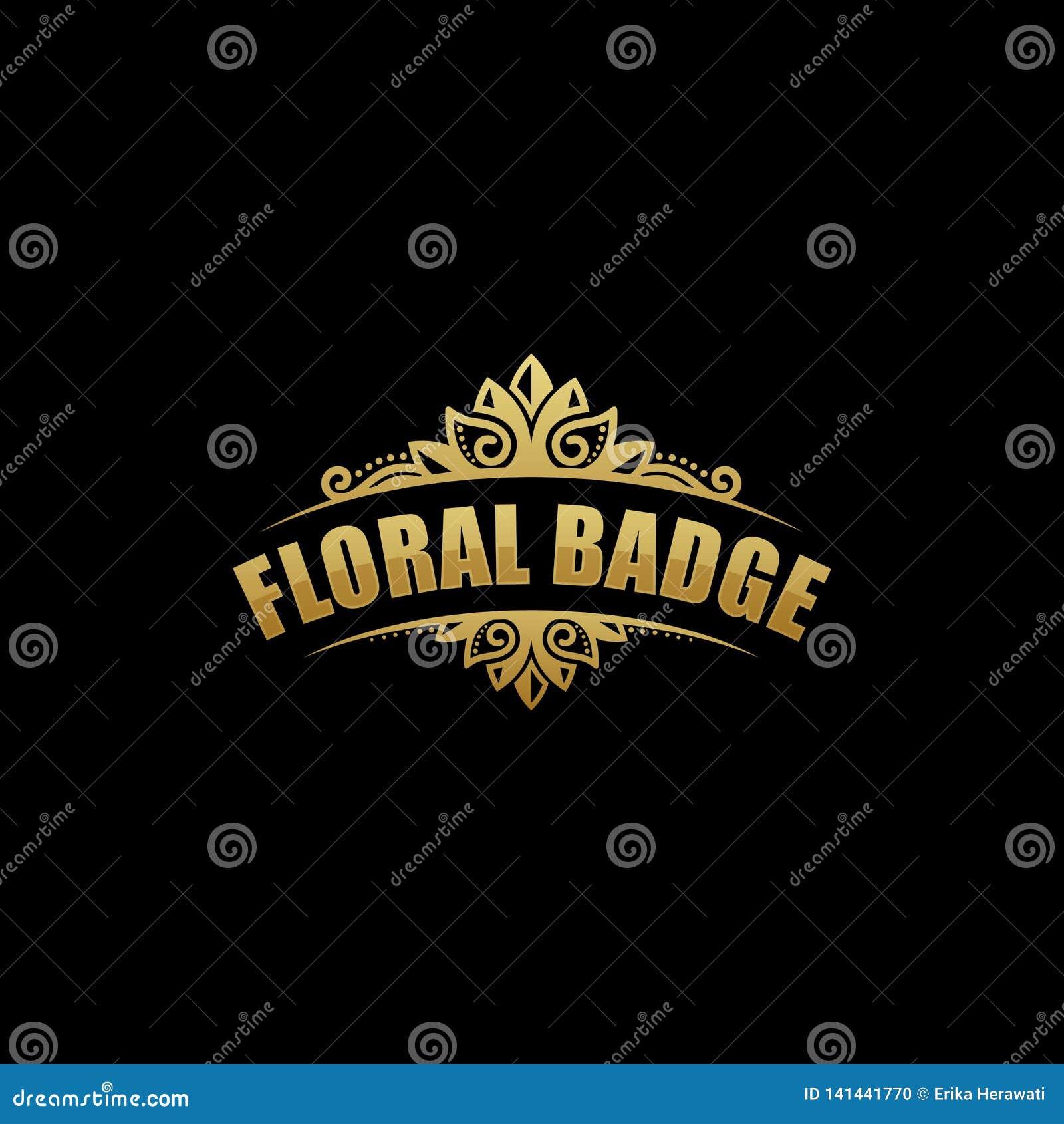 Floral Badge illustration vector template
