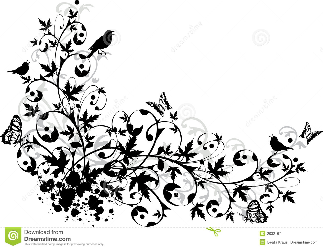 abstract floral border royalty free stock photography