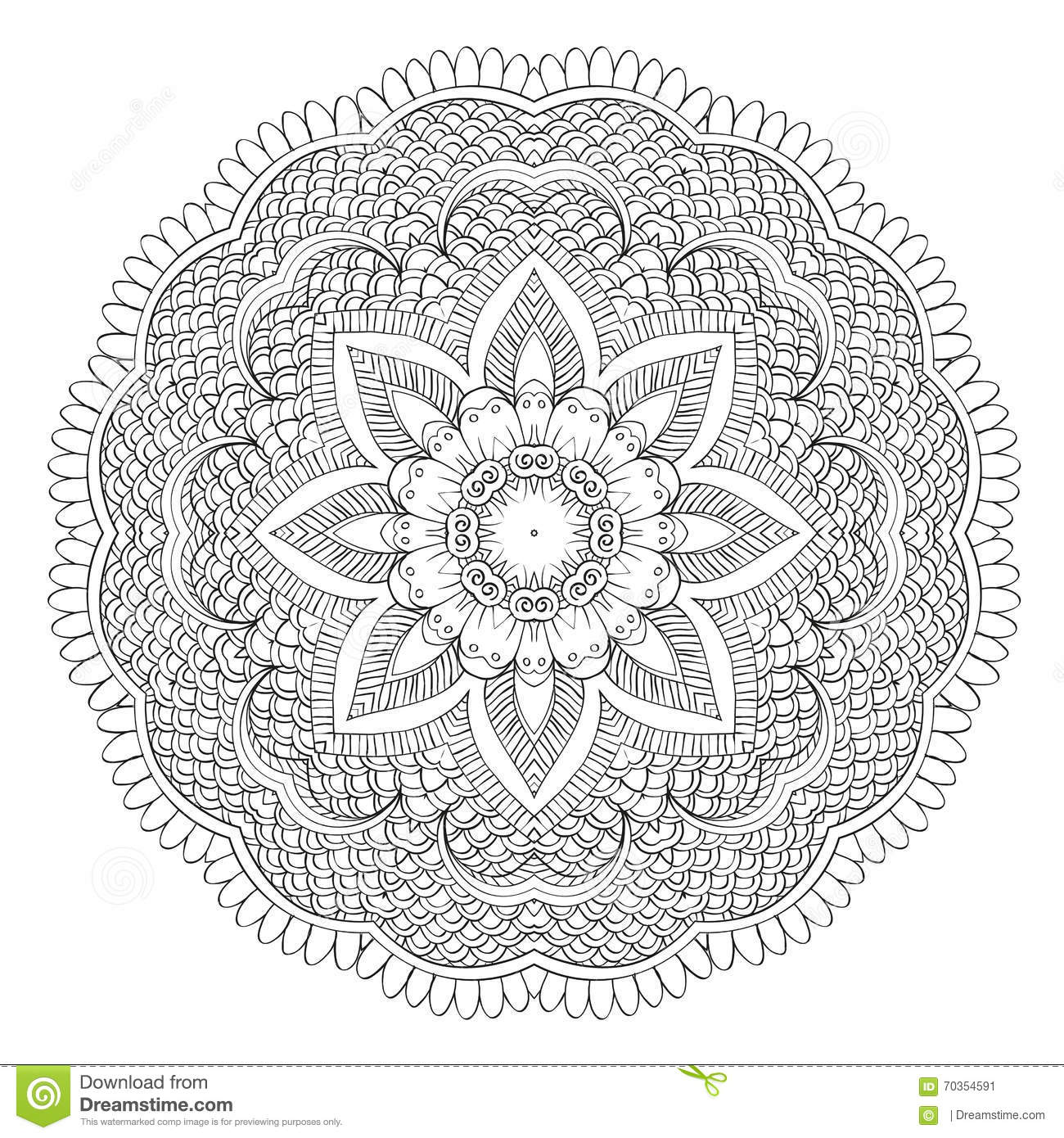 Abstract Floral Circular Mandala Stock Vector