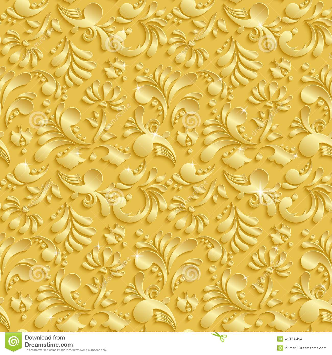 Floral 3d seamless background stock vector illustration of abstract floral 3d seamless pattern stock images stopboris Image collections
