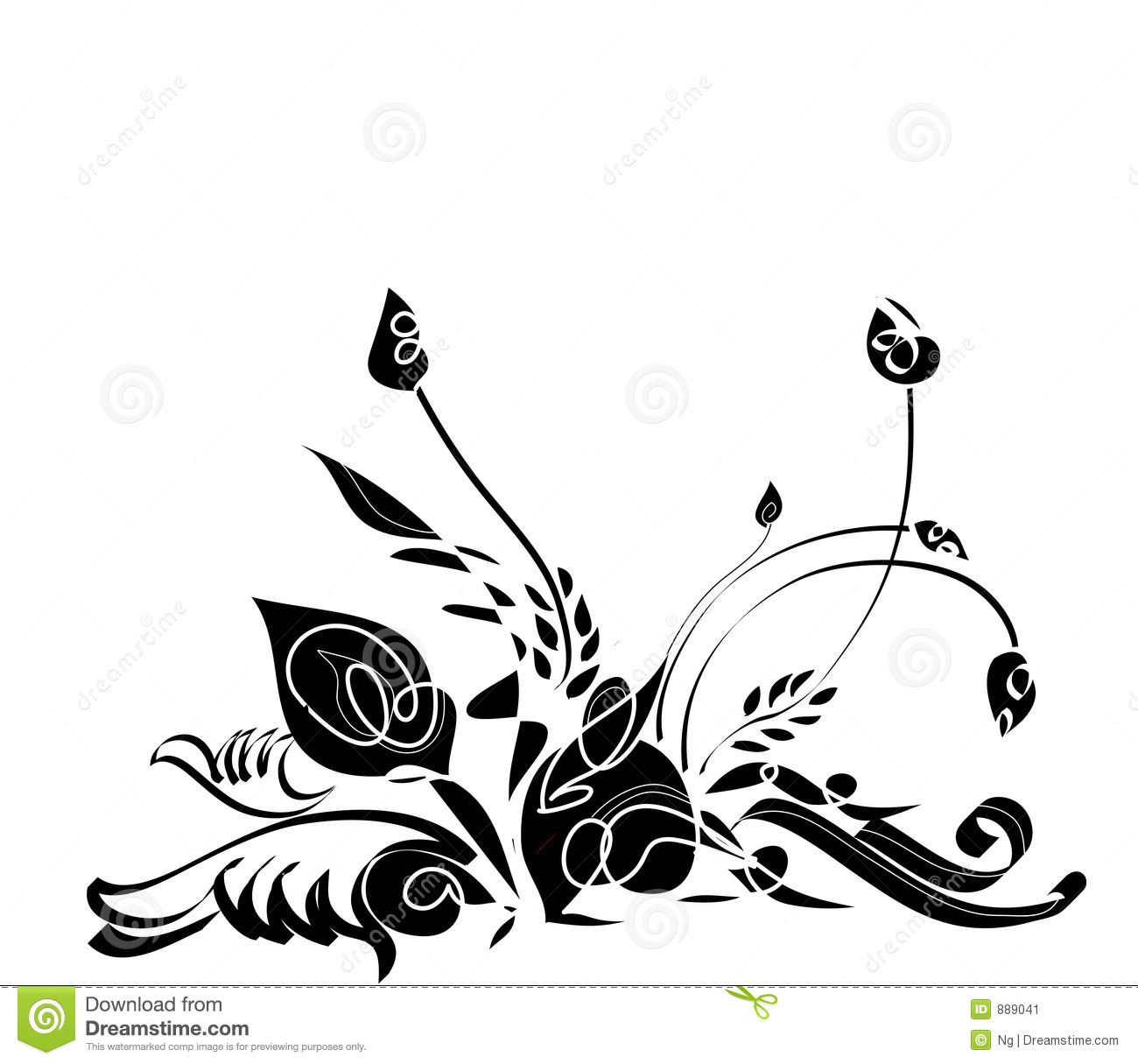 abstract floral design stock illustration illustration of graphic