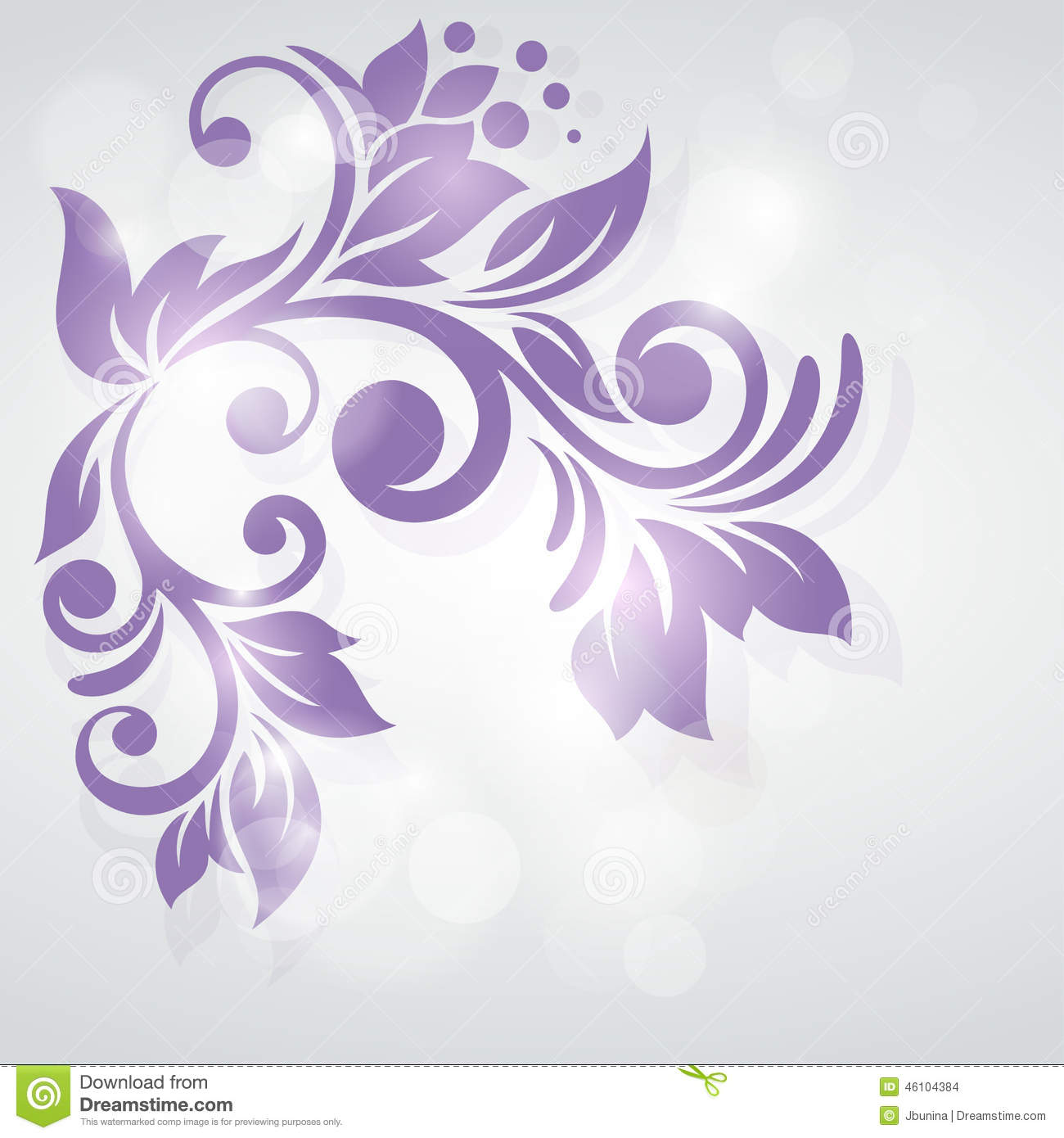 Abstract floral design. Frozen swirl.