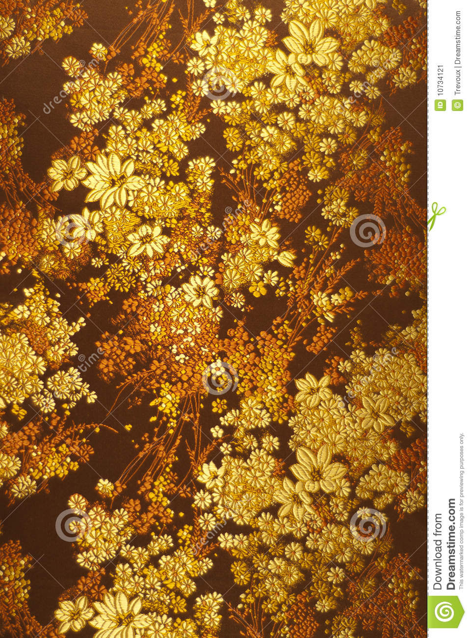 Abstract Floral Fabric Pattern Stock Image Image 10734121