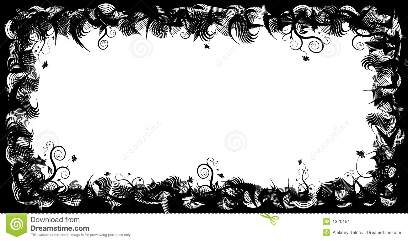 abstract floral frame  elements for design  vector stock film strip clipart with 5 film strip clipart with 5