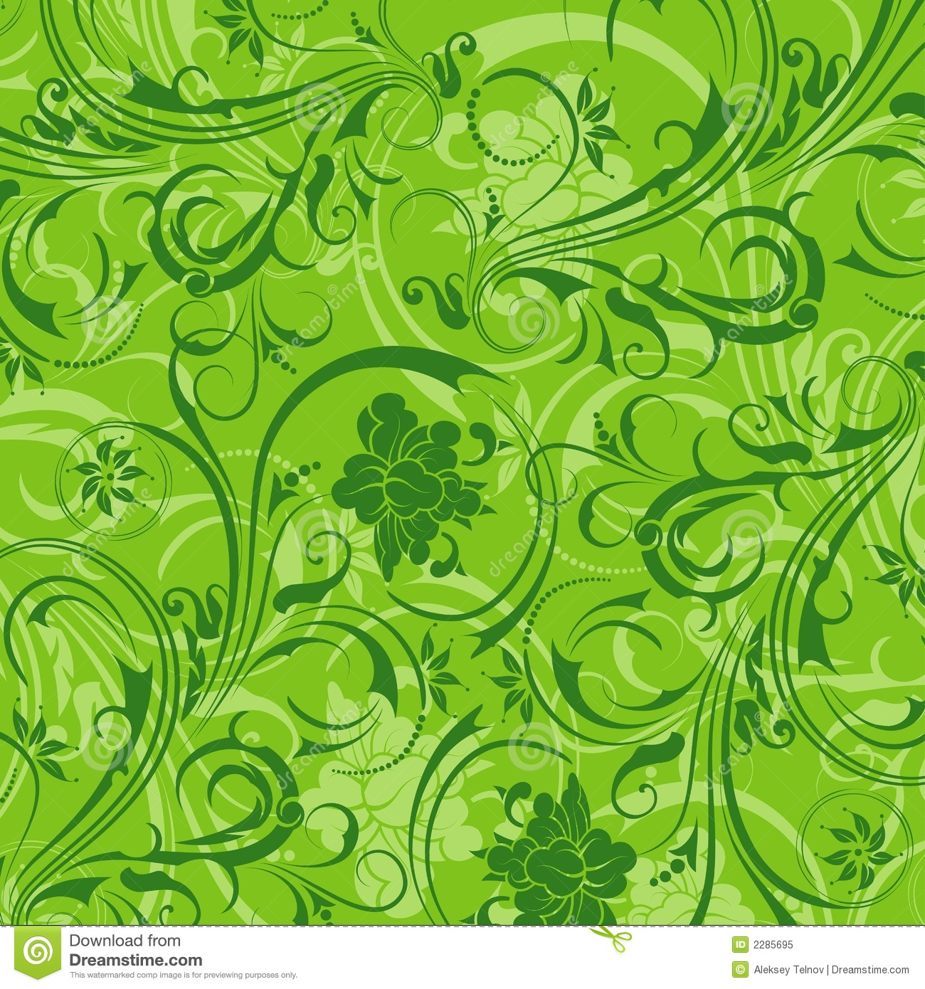 Abstract Floral Pattern Stock Vector Illustration Of