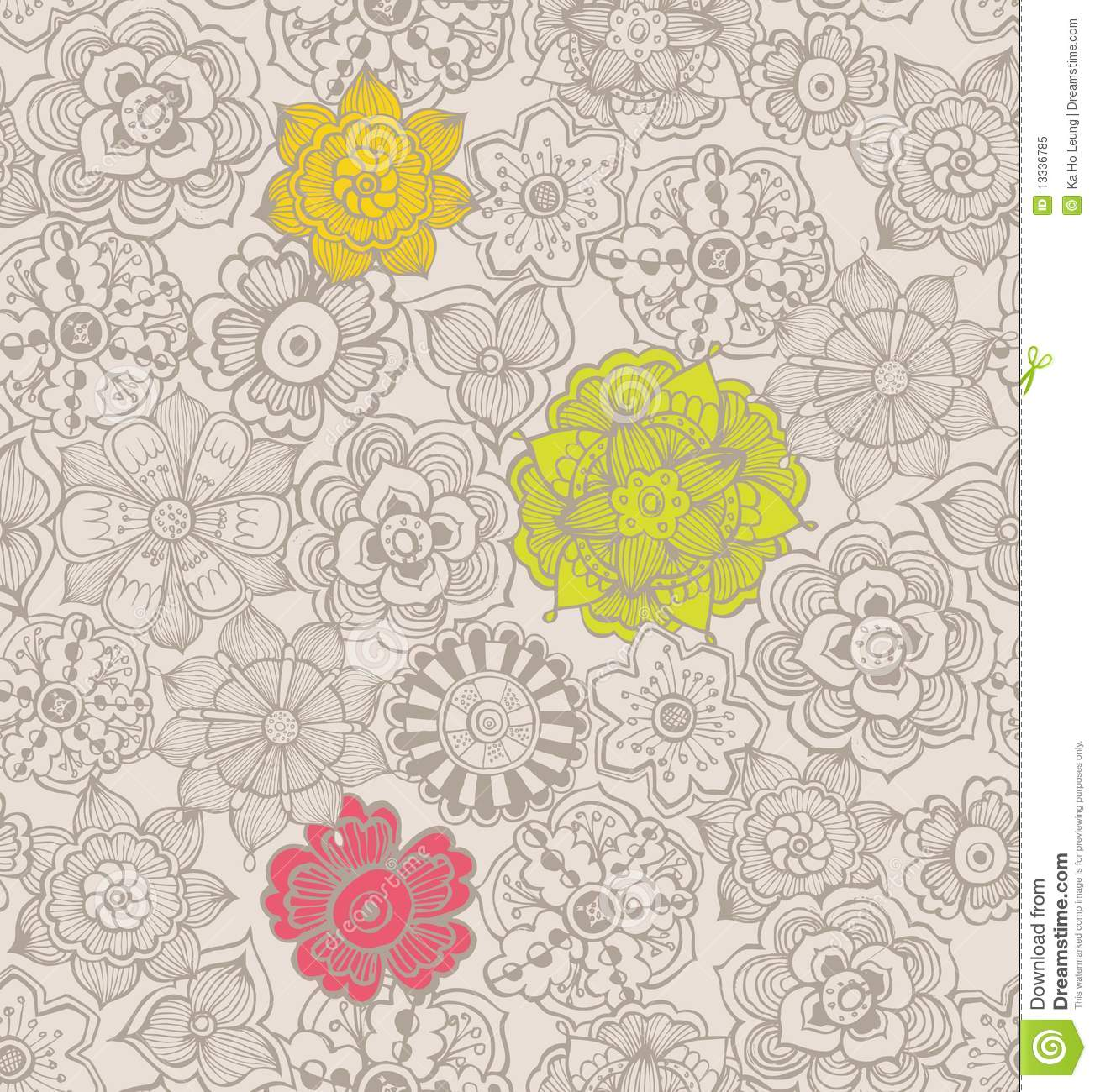 Very Free abstract floral pattern