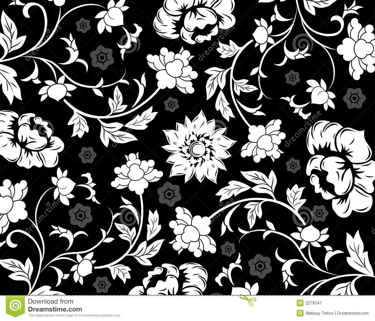 Abstract Floral Pattern Vecto Stock Vector Illustration