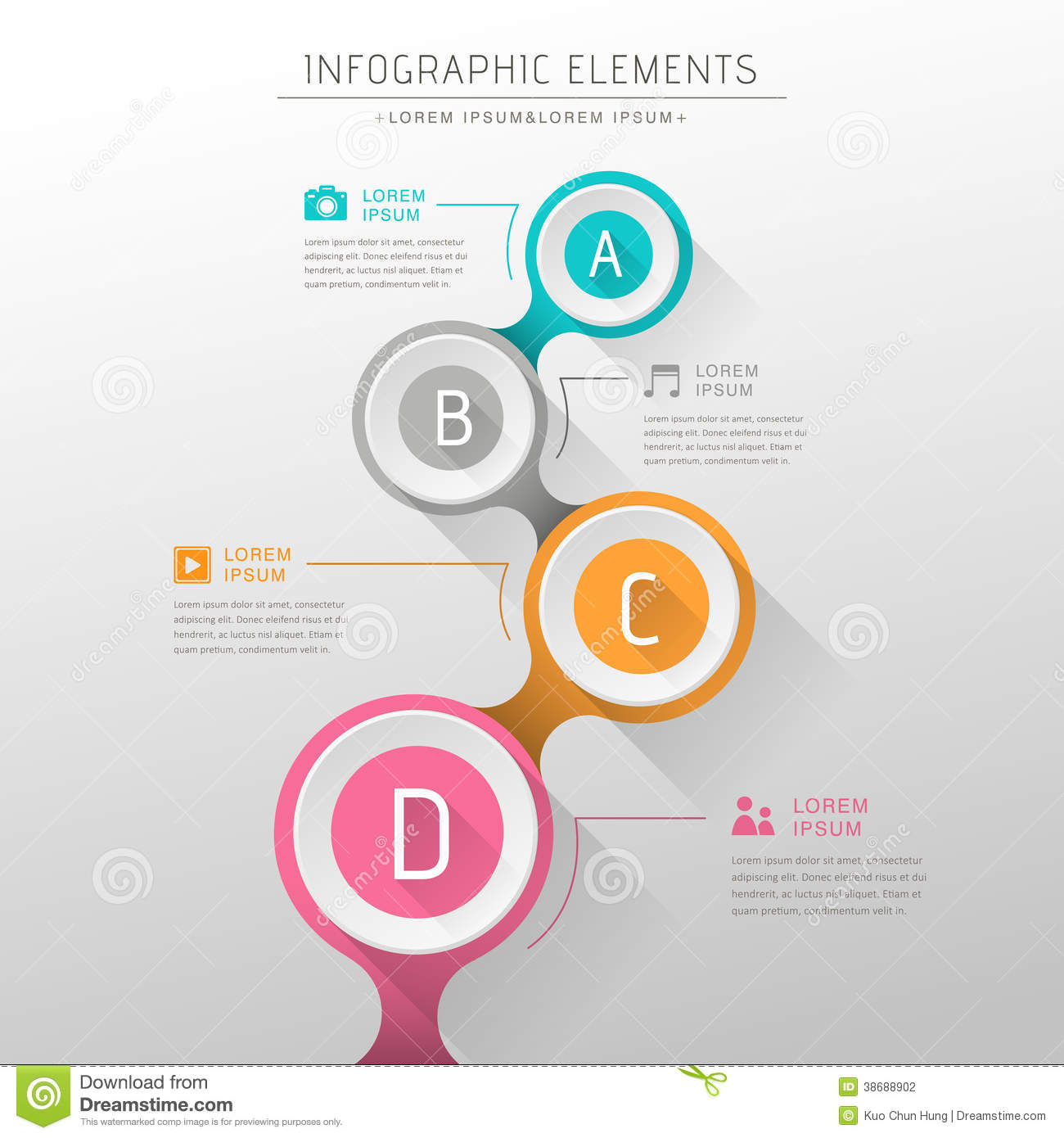 Abstract Flow Chart Infographics Stock Photography - Image: 38688902