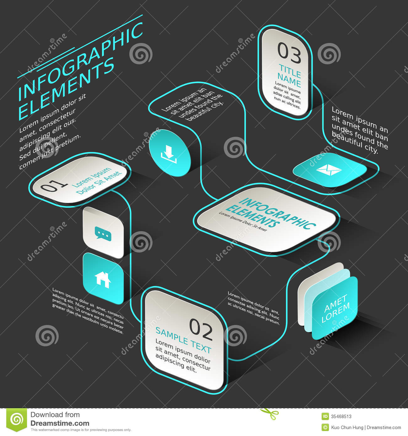 abstract flow chart infographics stock photos