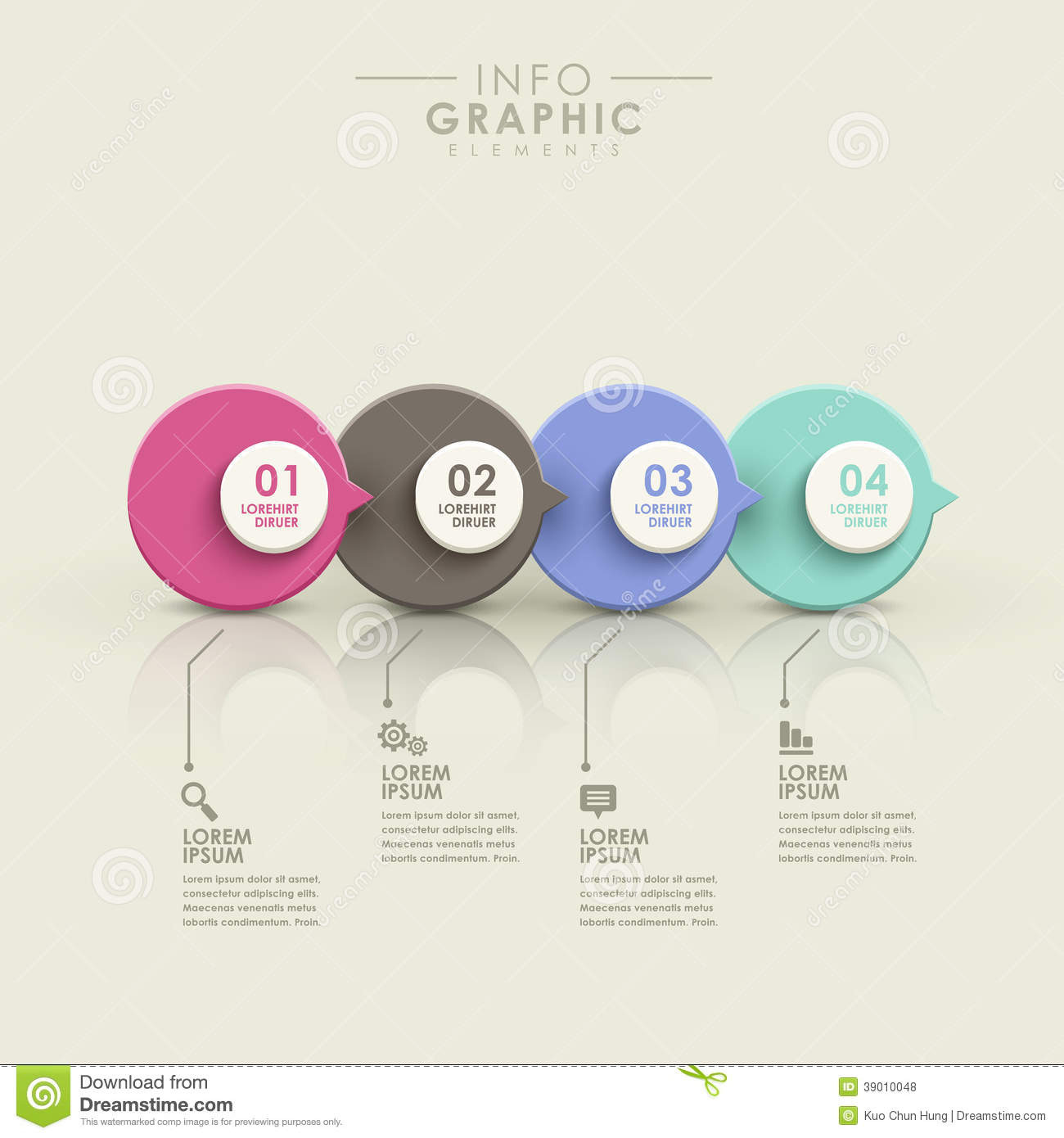 abstract flow chart infographics stock vector