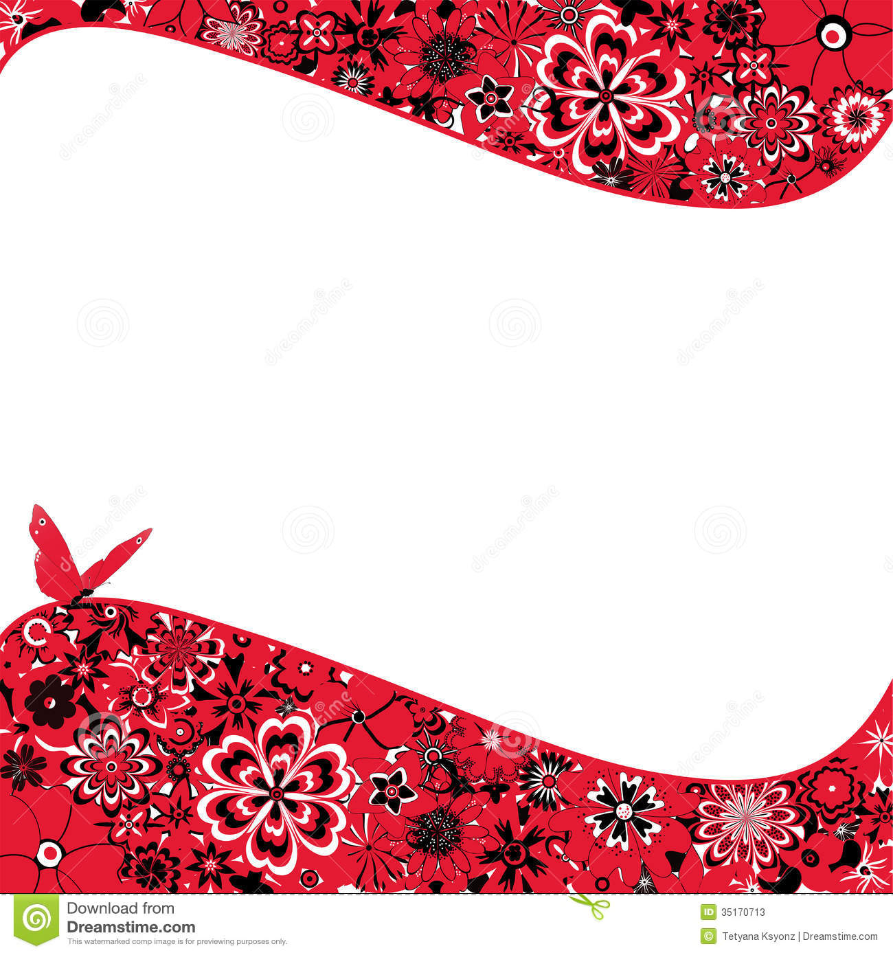 Abstract Flower Backgr...