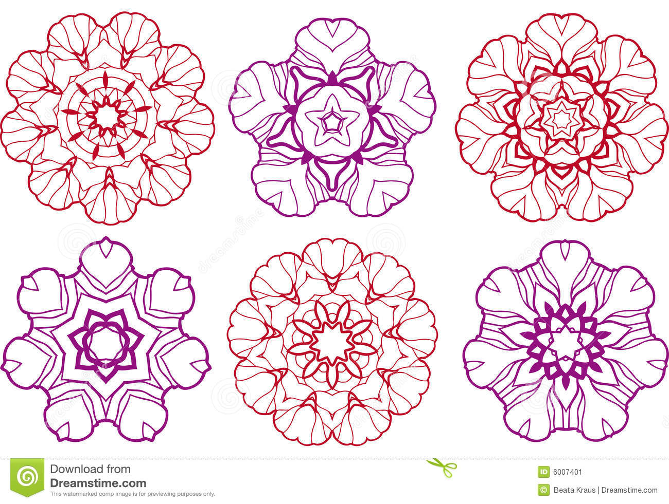 Abstract Flower Designs Stock Image Image 6007401