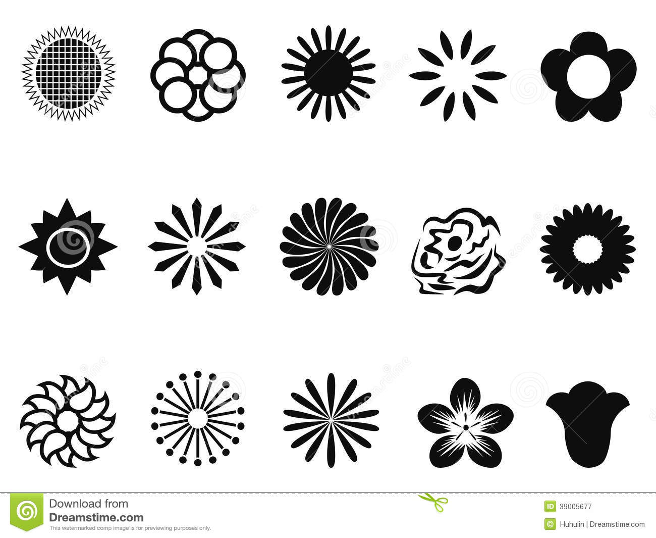 Abstract Flower Icons Stock Vector: Abstract Flower Icons Stock Vector