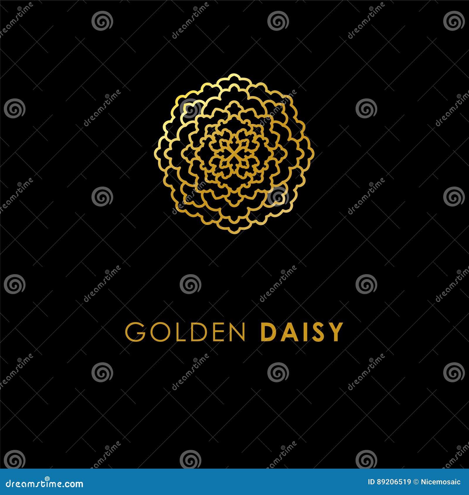 Abstract flower logo icon design elegant golden daisy symbol t abstract flower logo icon design elegant golden daisy symbol t biocorpaavc Choice Image