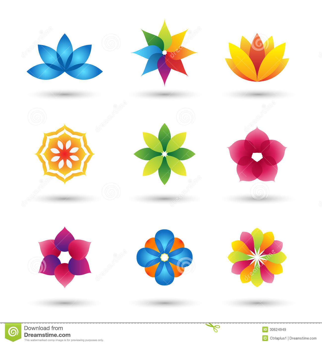 Lotus Flower Design Wall Paper : Abstract flower logo and icons set stock vector image