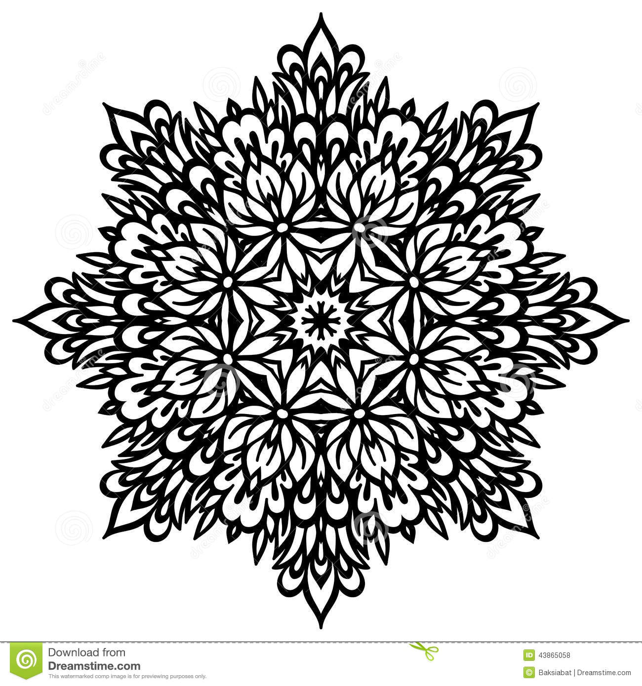 Abstract Flower Mandala. Decorative Element For Stock Vector ...