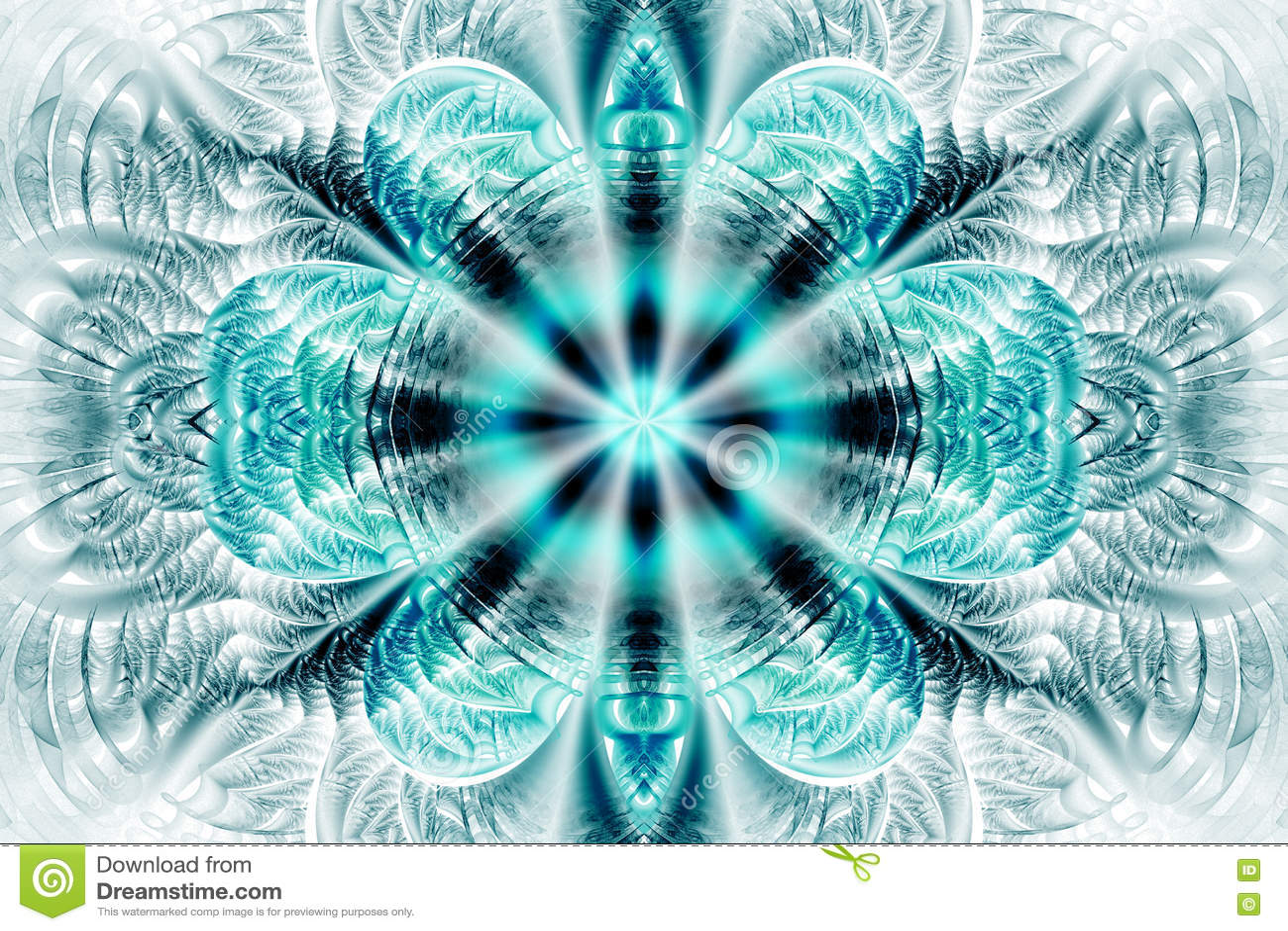 e946c1cf6 Abstract Flower Mandala On White Background. Stock Photo - Image of ...