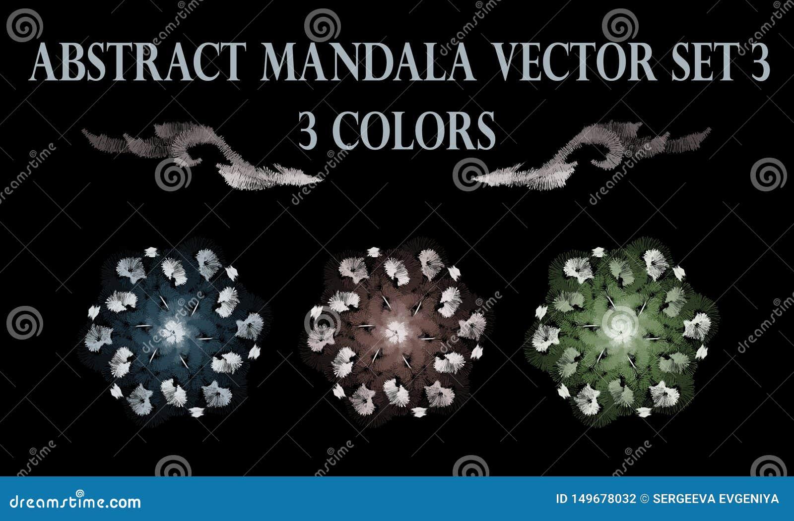 Abstract flower pastel round mandala ornament