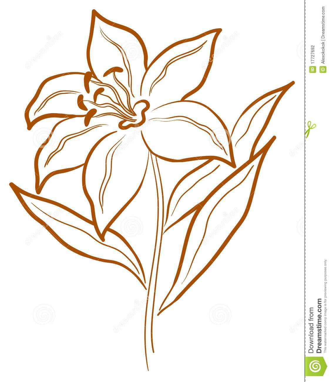 Abstract Flower Pictogram Stock Photography Image 17727692