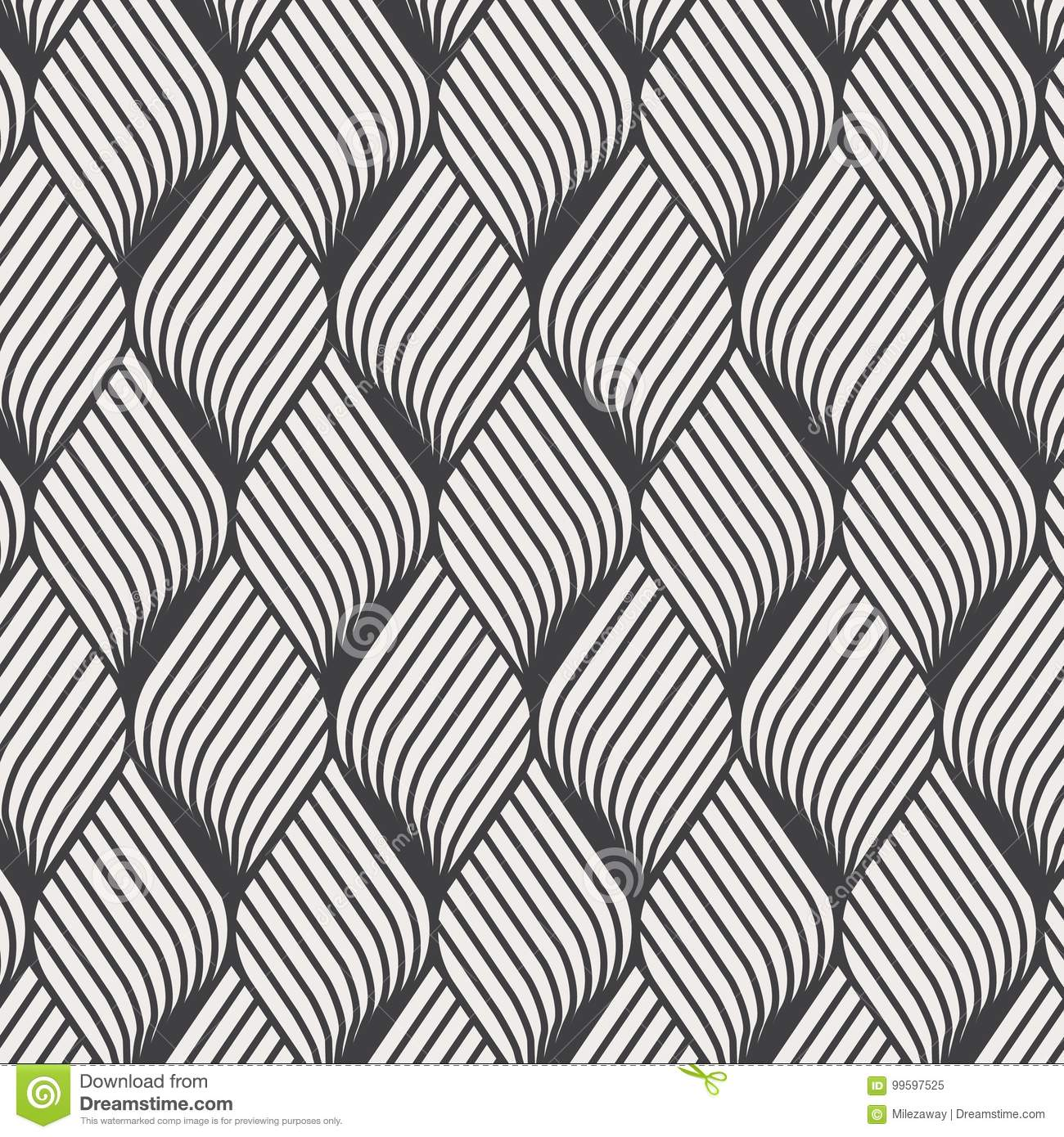 Abstract flower ripple pattern. Repeating vector texture. Wavy graphic background. Simple geometric waves.