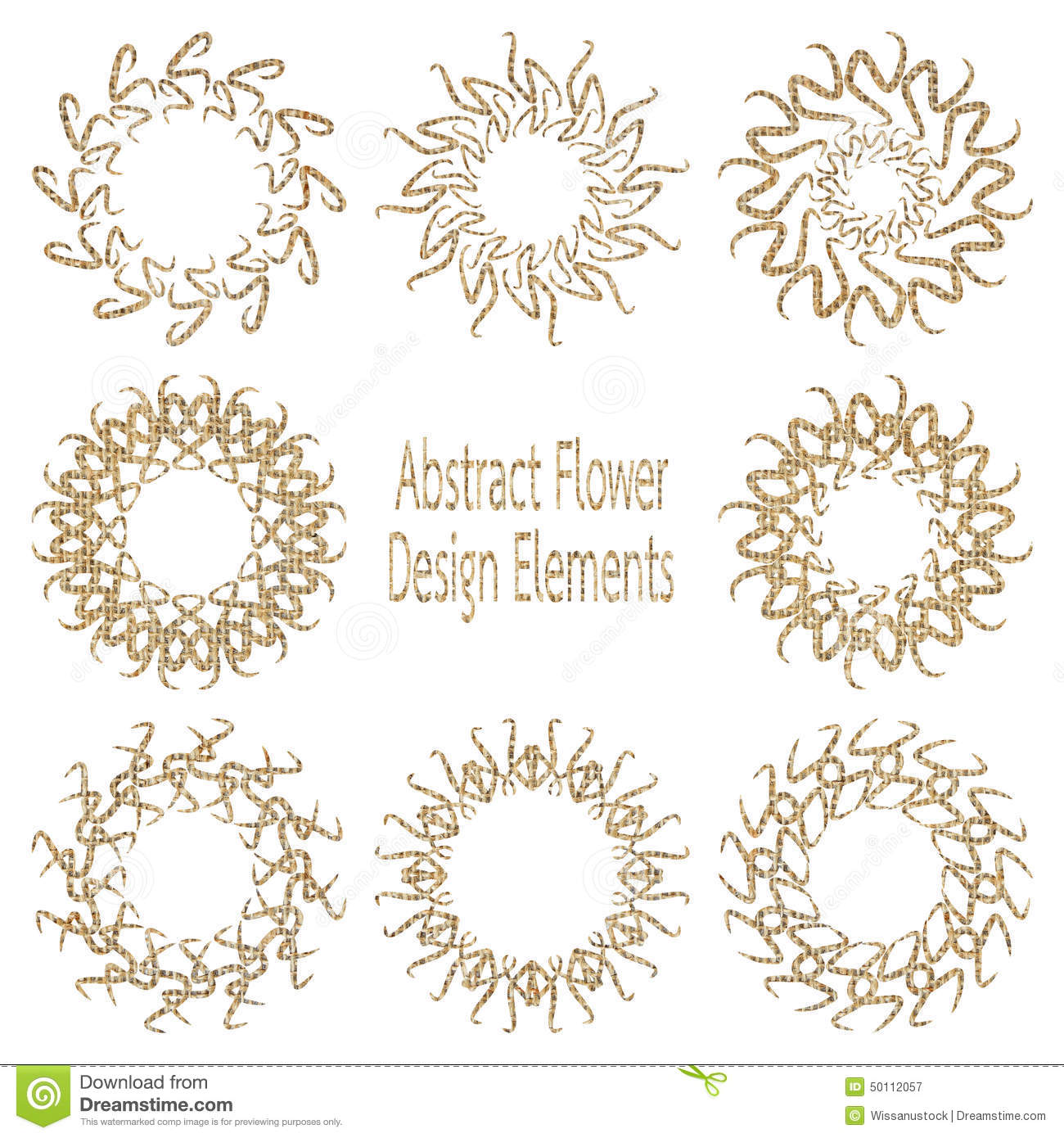 Abstract Flower Stock Illustration Image